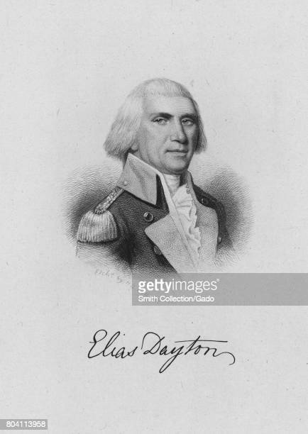 Engraved portrait of Elias Dayton a brigadier general who lead a New Jersey regiment during the American Revolutionary War 1849 From the New York...