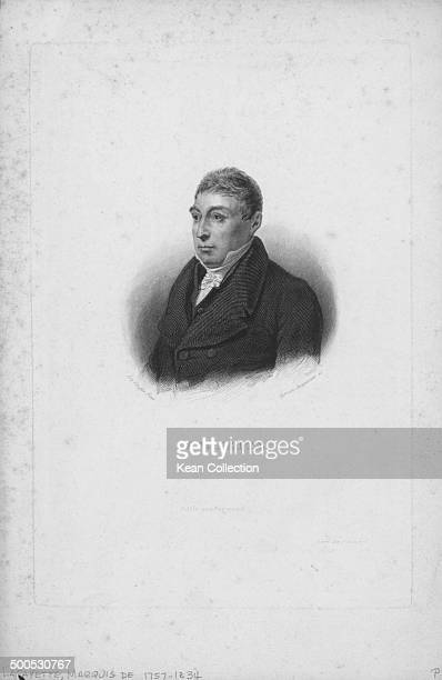 Engraved portrait of French aristocrat the Marquis de Lafayette circa 17801834 Engraved by Jacquemin from the original by Scheffer