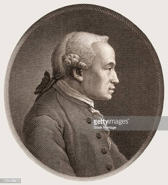 Engraved portrait of German philosopher Immanuel Kant late 18th century