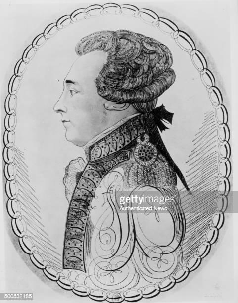 Engraved profile portrait of the Marquis de Lafayette circa 18001834