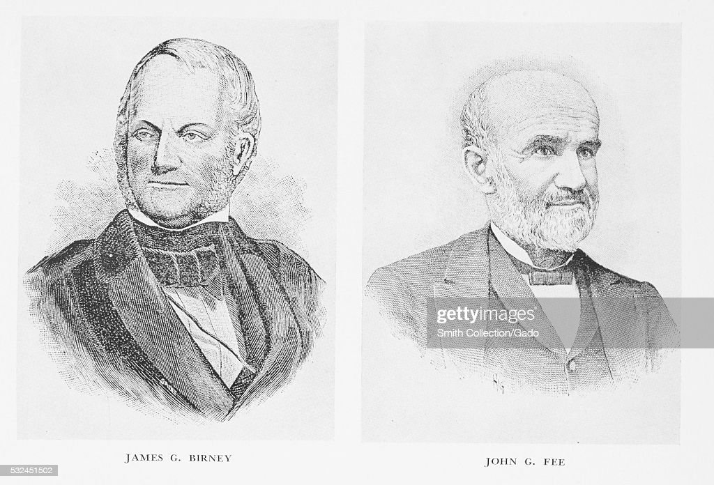 Engraved sidebyside portraits of James G Birney an abolitionist politician and jurist born in Danville Kentucky and John G Fee an abolitionist...