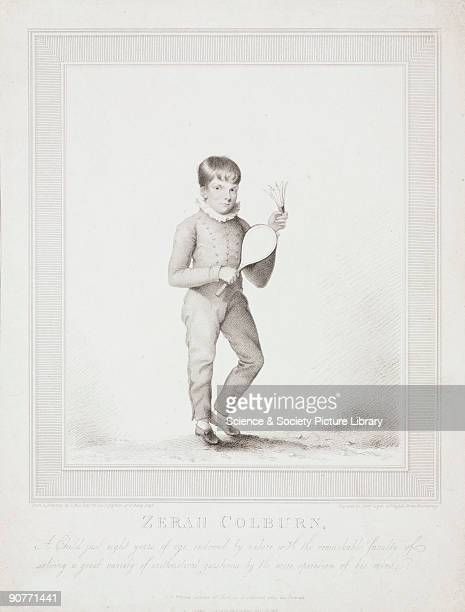 Engraving by Henry Meyer after T Hull of �A Child just eight years of age endowed by nature with the remarkable faculty of solving a great variety of...