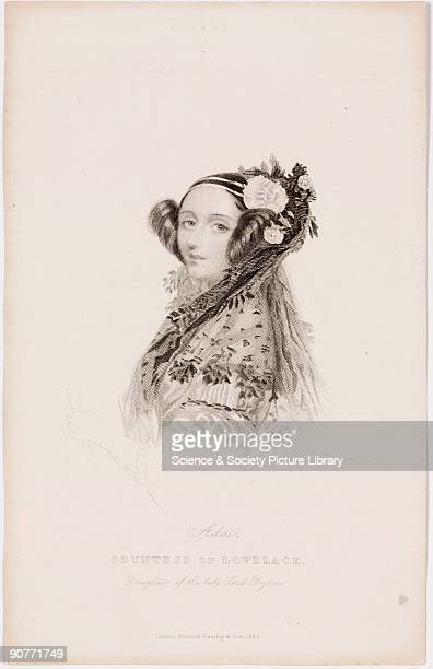 Engraving by Joseph Brown after a drawing by Alfred Edward Chalon c 1840 Augusta Ada King Countess of Lovelace was the daughter of the great Romantic...