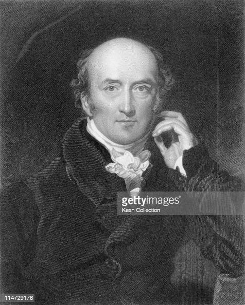 Engraving depicting George Canning British statesman and politician who served as Foreign Secretary Chancellor of the Exchequer and Prime Minister...