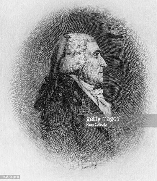 Engraving depicting Jonathan Dayton American politician USA circa 1810 By Albert Rosenthal