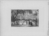 Engraving depicting scenes of the English landscape Rushbearing at Ambleside Westmorland