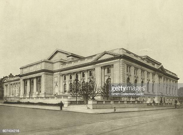 Engraving depicting the New York Public Library New York City New York 1900 From the New York Public Library