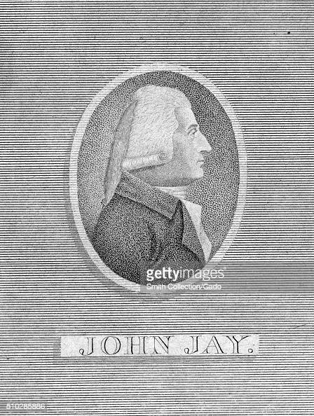 Engraving from a profile view portrait of John Jay Founding Father and First Chief Justice of the United States 1790 From the New York Public Library