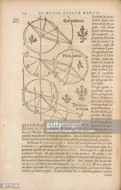 Engraving from �Astronomia nova� by German astronomer Johannes Kepler published in Heidelberg in 1609 Modern astronomy started with the publication...