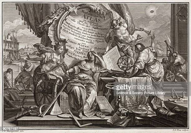 Engraving from �Mathematischer Atlas� by Tobias Mayer published in Augsburg in 1745 Each plate has descriptive text on either side some have...