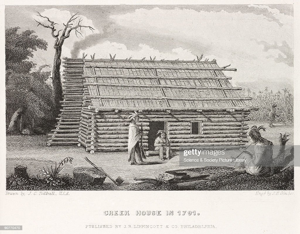 Amazing photo of made in 1855 by S H Gimber after J C Tidball showing a log cabin  with #766755 color and 1024x798 pixels