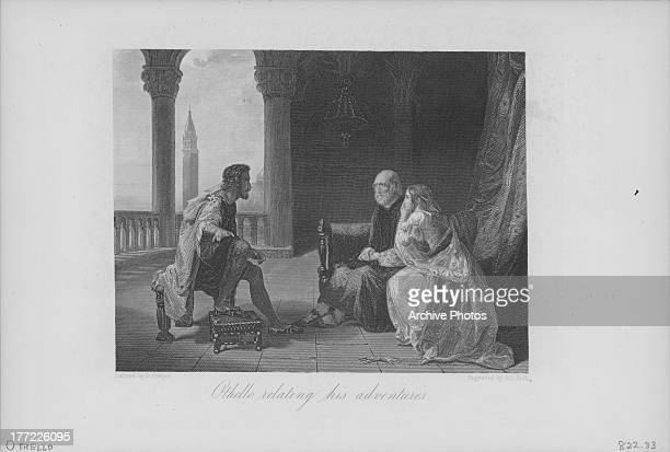 Engraving of a scene from the works of William Shakespeare Othello 1603