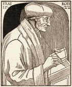 Engraving of Dutch humanist and theologian Desiderius Erasmus