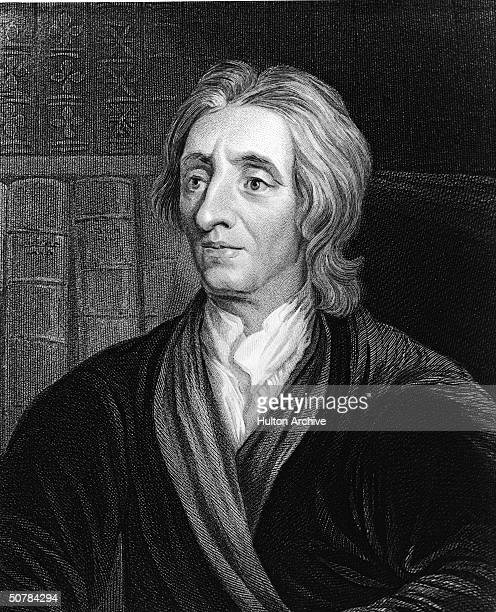 Engraving of English philosopher John Locke author of 'Essays Concerning Human Understanding' 1690
