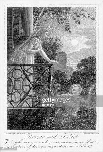 a comparison of romeo and juliet in the balcony scene by william shakespeare One of the most famous love scenes of all time is when romeo and juliet pledge  their love for each other shakespeare's imagery evocatively captures the.