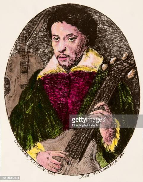Engraving Portrait of Antonio Stradivari known as Stradivarius luthier Private Collection