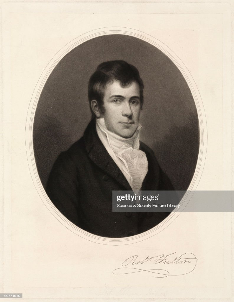 Worksheet Steamboat Inventor Robert Fulton robert fulton american artist and inventor c 1800 pictures engraving with fultons signature 1765 1815 worked in britain
