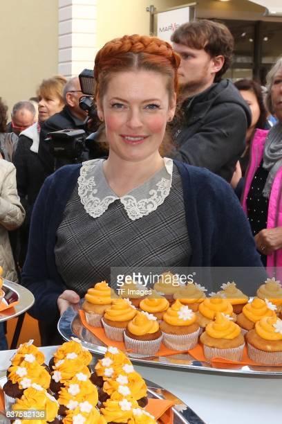 Enie van de Meiklokjes attend the opening of the City Outlet Geislingen on October 27 2016 in Geislingen Germany