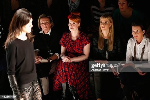 Enie van de Meiklokjes attends the Riani show during MercedesBenz Fashion Week Autumn/Winter 2014/15 at Brandenburg Gate on January 14 2014 in Berlin...