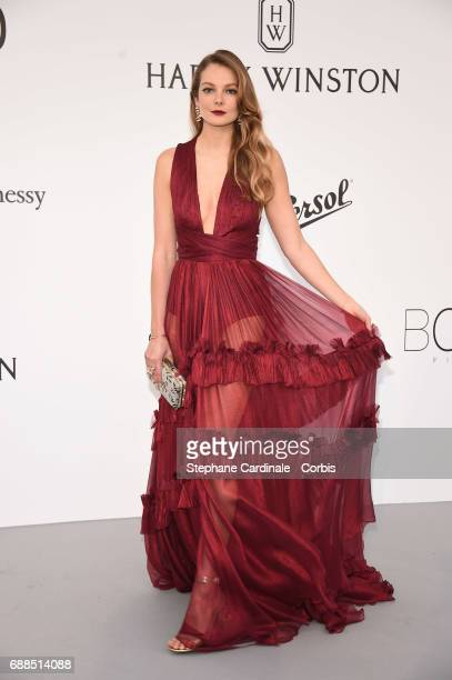 Eniko Mihalik arrives at the amfAR Gala Cannes 2017 at Hotel du CapEdenRoc on May 25 2017 in Cap d'Antibes France