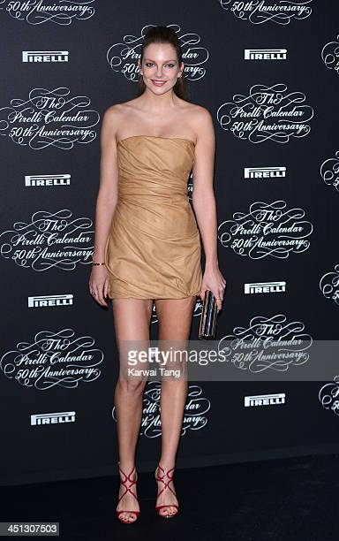 Eniko Mihalik arrives for Pirelli's 50th anniversary Gala dinner held at HangarBicocca on November 21 2013 in Milan Italy