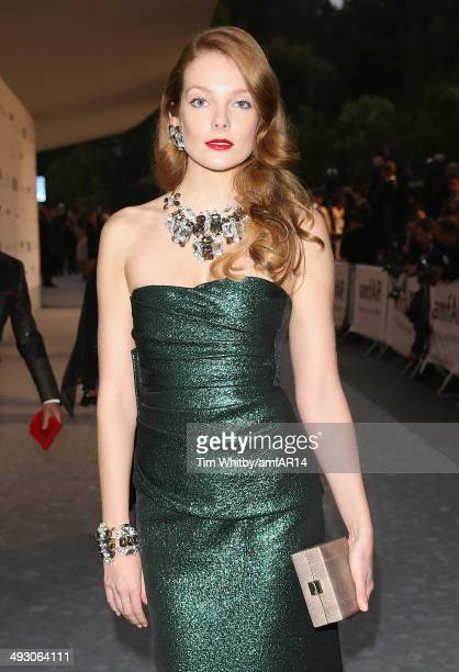 Eniko Mihalik attends amfAR's 21st Cinema Against AIDS Gala Presented By WORLDVIEW BOLD FILMS And BVLGARI at Hotel du CapEdenRoc on May 22 2014 in...