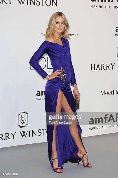 Eniko Mihalik attends amfAR's 22nd Cinema Against AIDS Gala Presented By Bold Films And Harry Winston at Hotel du CapEdenRoc on May 21 2015 in Cap...