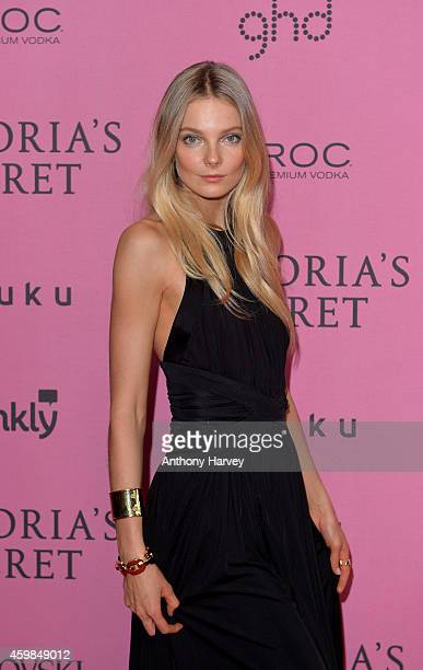 Eniko Mihalik attends the pink carpet of the 2014 Victoria's Secret Fashion Show on December 2 2014 in London England