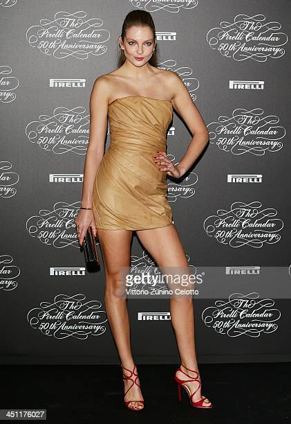 Eniko Mihalik attends the Pirelli Calendar 50th Anniversary event on November 21 2013 in Milan Italy