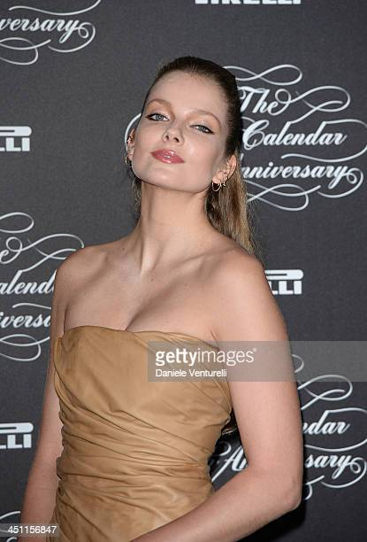 Eniko Mihalik attends the Pirelli Calendar 50th Anniversary Red Carpet on November 21 2013 in Milan Italy