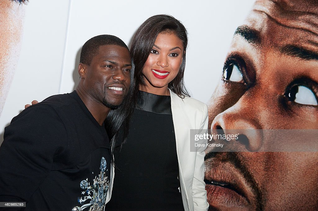 Eniko Parish and <a gi-track='captionPersonalityLinkClicked' href=/galleries/search?phrase=Kevin+Hart+-+Actor&family=editorial&specificpeople=4538838 ng-click='$event.stopPropagation()'>Kevin Hart</a> attend the 'Ride Along' screening at AMC Loews Lincoln Square on January 15, 2014 in New York City.