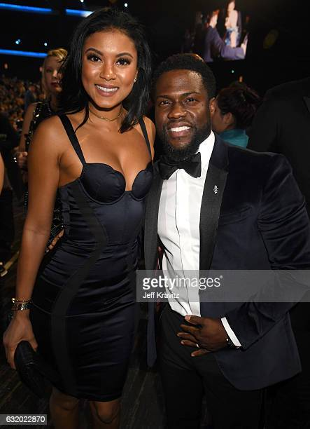 Eniko Parrish and actor Kevin Hart attend the People's Choice Awards 2017 at Microsoft Theater on January 18 2017 in Los Angeles California