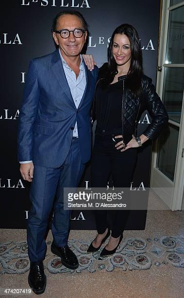 Enio Silla and Melita Toniolo attend the Le Silla Fall/Winter 201415 Collection Presentation as part of Milan Fashion Week Womenswear Autumn/Winter...