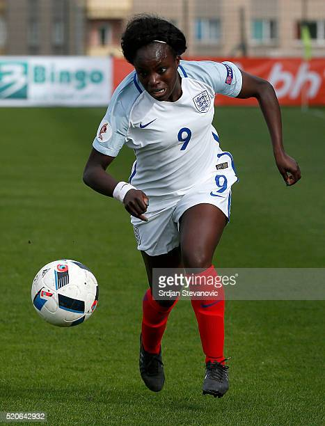 Eniola Aluko of England in action during the UEFA Women's European Championship Qualifier match between Bosnia and Herzegovina and England at FF BIH...