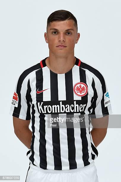 Enis Bunjaki poses during the Eintracht Frankfurt Team Presentation on July 21 2016 in Frankfurt am Main Germany