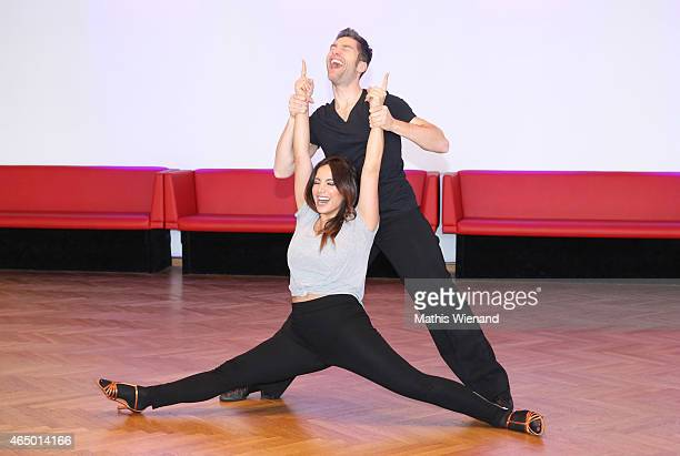 Enissa Amani and Christian Polanc pose at a photo call for the television competition 'Let's Dance' on March 3 2015 in Cologne Germany On March 13th...