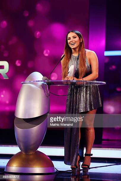 Enissa Amani attends the 19th Annual German Comedy Awards at Coloneum on October 20 2015 in Cologne Germany