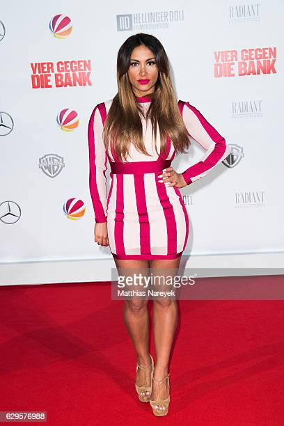 Enissa Amani attends the German premiere of the film 'Vier gegen die Bank' at CineStar on December 13 2016 in Berlin Germany