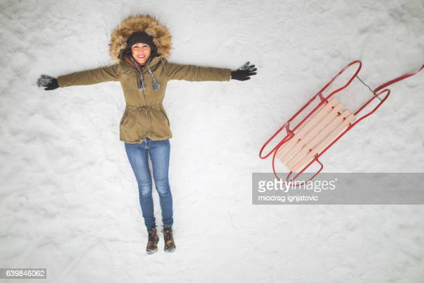 Enjoy winter and snow