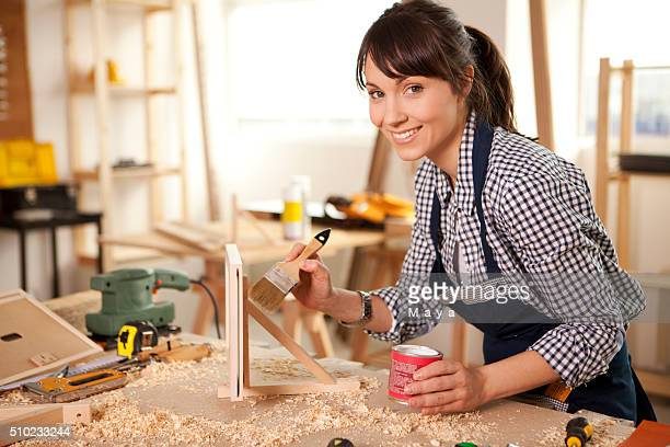 Enjoy working at my carpentry workshop