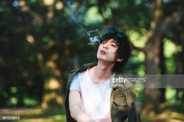 Enjoyin in smoking