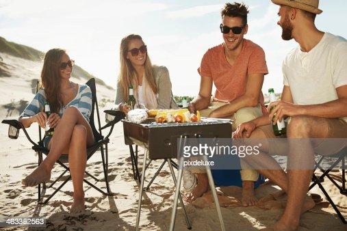 D'un barbecue sur la plage