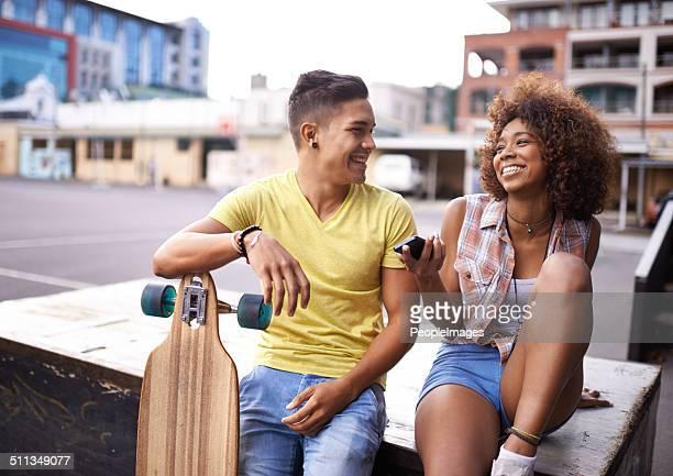 Genießen Sie einen Tag im skate-park mit einer besonderen Person