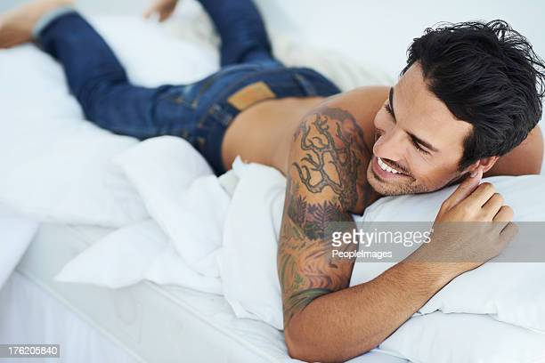 Enjoying a laugh in bed