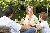 Enjoying a Meal Outdoors