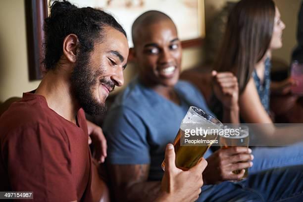 D'un bien mérité après un long de la semaine de la bière
