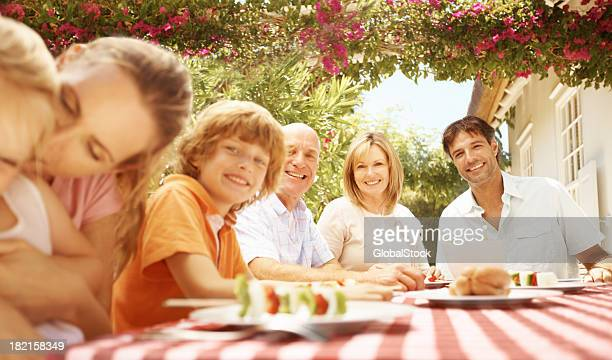 Enjoying a wholesome family mealtime