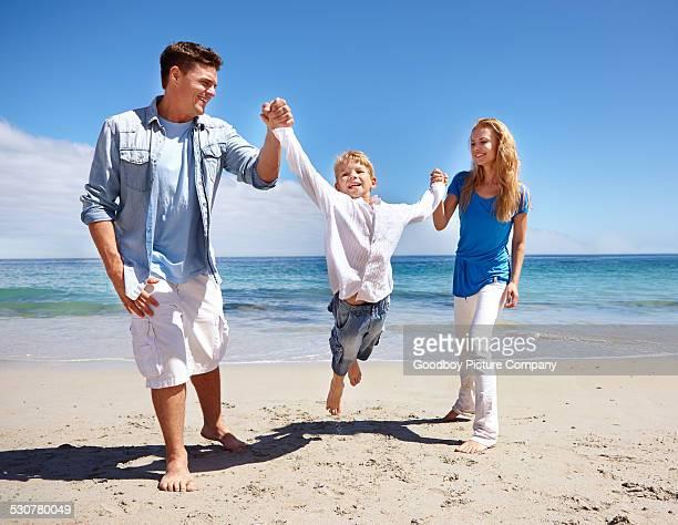 Genießen Sie den Strand Momente