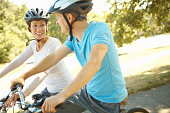 Enjoying bike ride