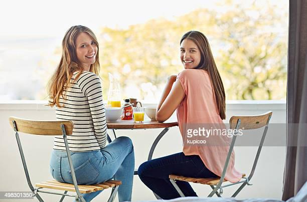 Genießen Sie Frühstück und die Aussicht